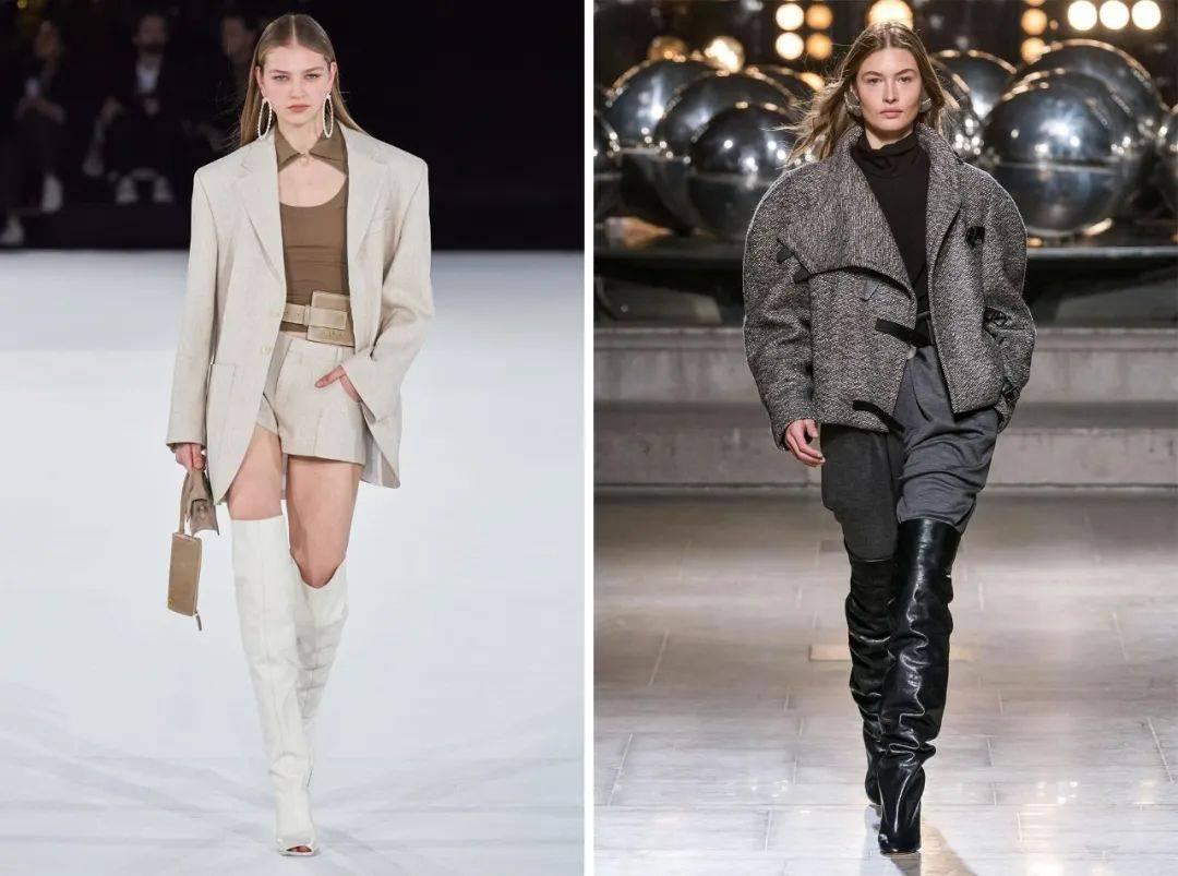 最显腿长的组合,非短外套+长靴莫属~