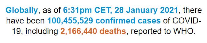 世界卫生组织:全世界总计新冠诊断病案超一亿45万例