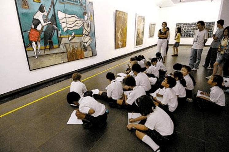 假如学校建一个这样的美术馆,人人都是艺术家