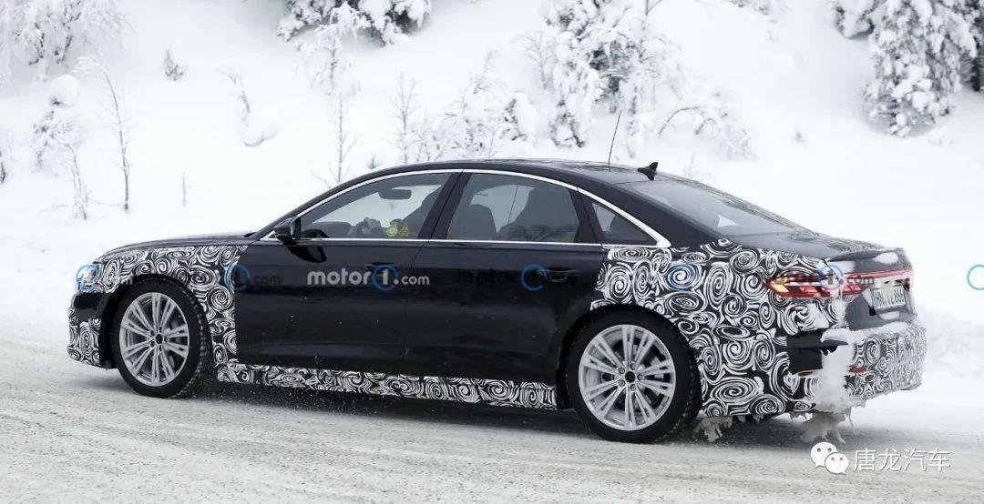 【间谍照曝光】最后一款W12引擎奥迪?!2022 Audi A8中期小改款寒带测试中