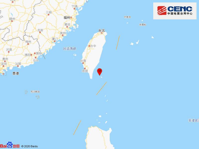 台湾台东县海域发生4.6级地震,震源深度16千米