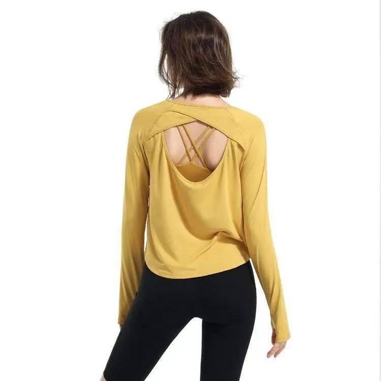 瑜伽精选   新款透气舒适瑜伽服长袖,活动仅78元_镂空