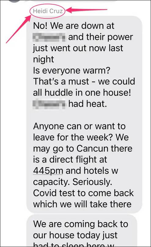 美得州参议员克鲁兹出国度假还甩锅女儿,妻子短信曝光:家里冷