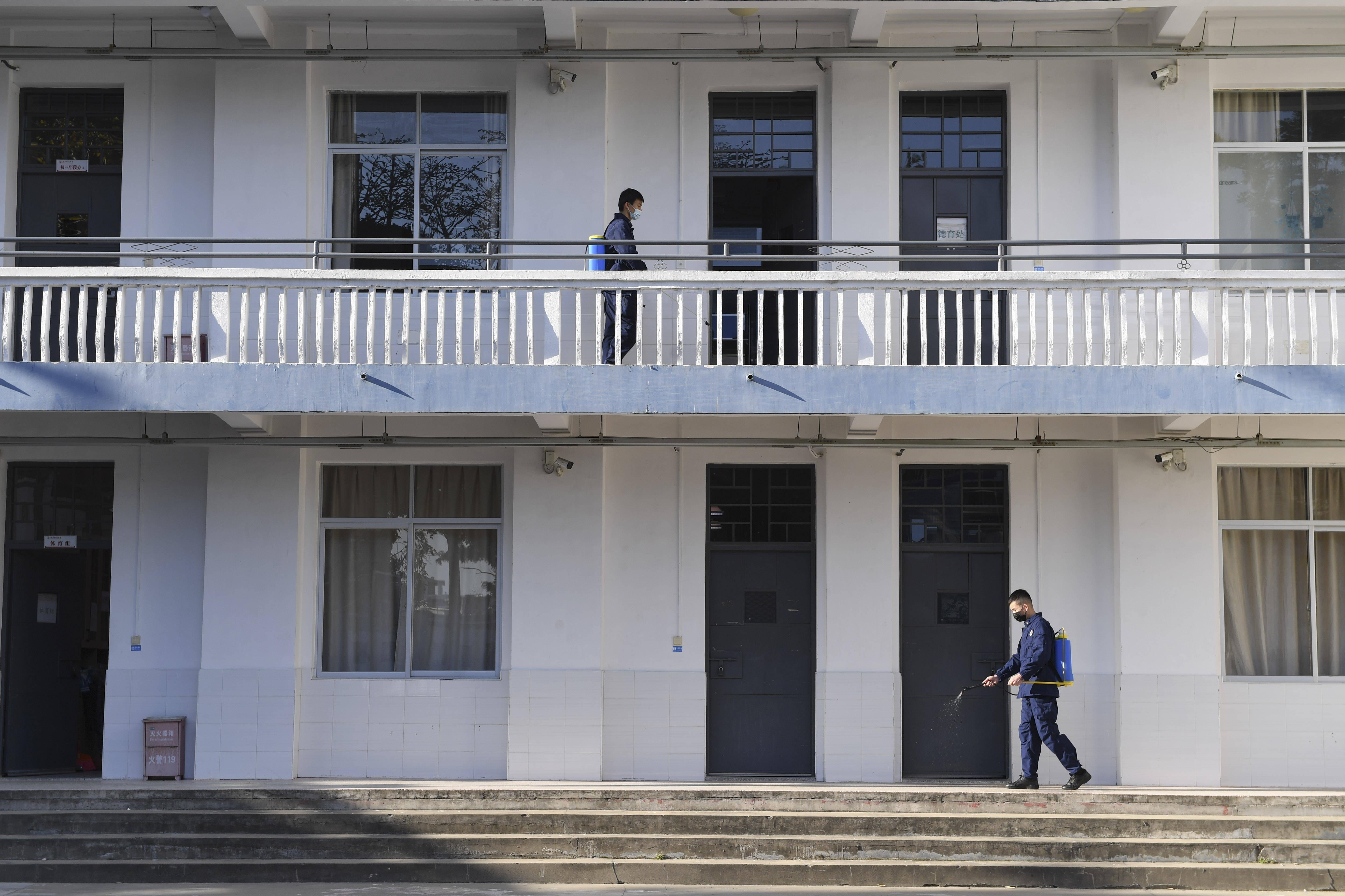 福建福州:校园消杀迎开学