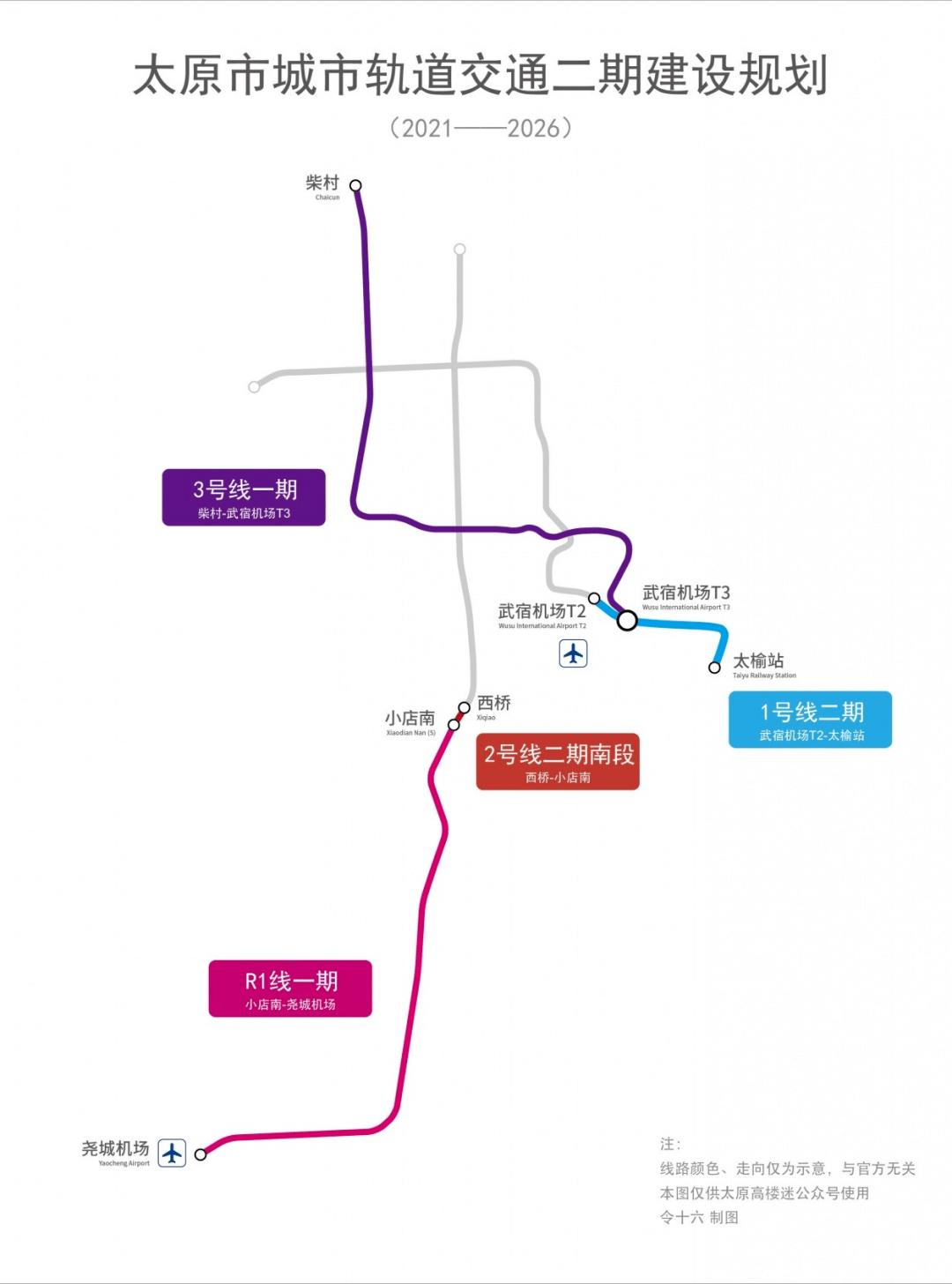 开年重磅!75. 85km、40座车站,太原地铁二期建设规划出炉!还有1号线最新进展...  第5张