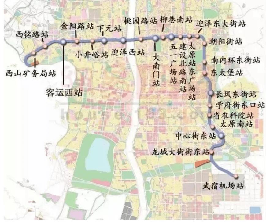 太原地铁1号线最新进展!  第2张
