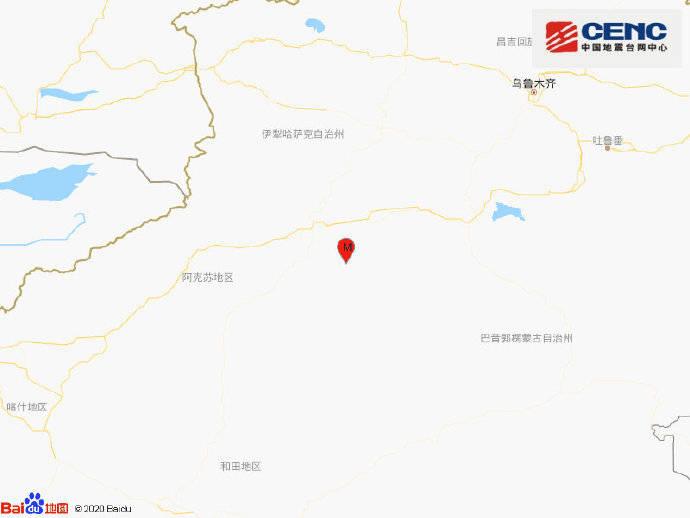 新疆阿克苏地区库车市发生3.6级地震,震源深度10千米