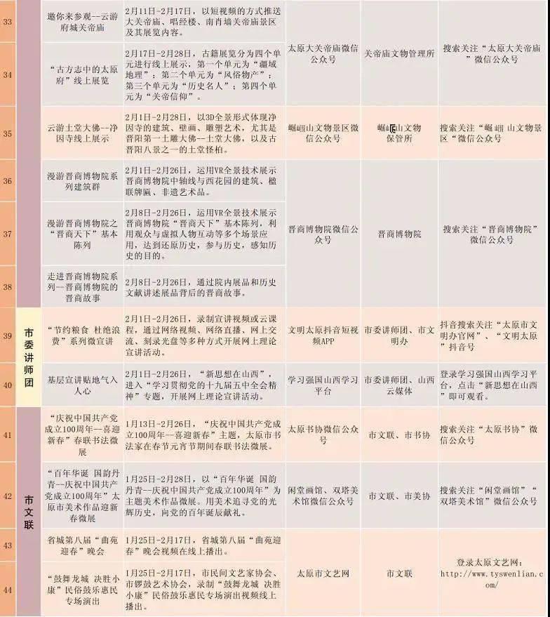 2021太原元宵节游玩超全攻略!内附线上线下节目表...  第41张