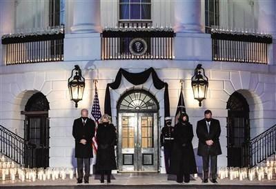 美国新冠逝者超50万 白宫举行悼念仪式