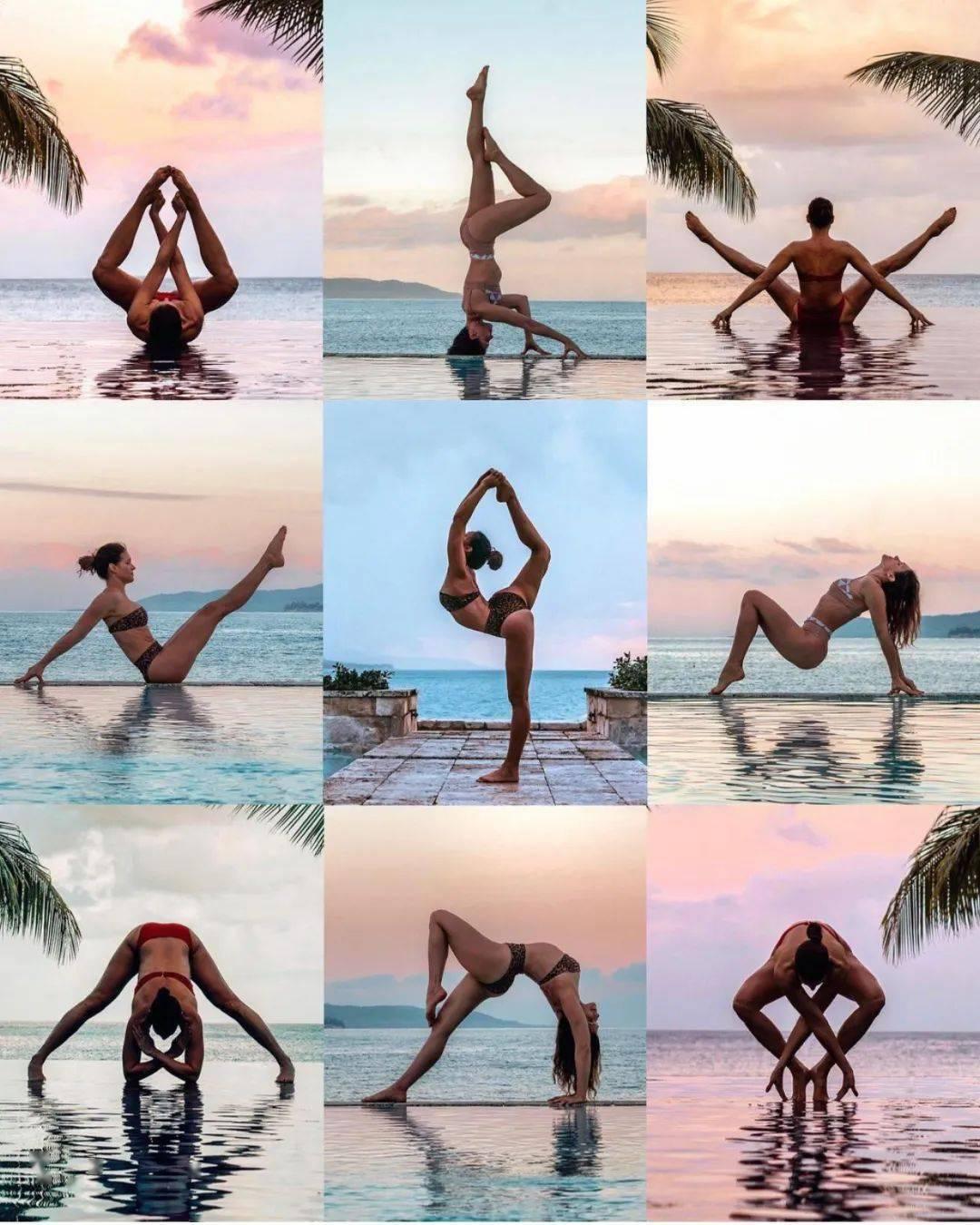 瑜伽网红博主,体式照怎么能拍那么好看?