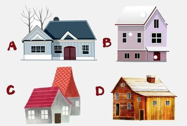 选择一幅房子图画,打开你童年记忆深处的心结