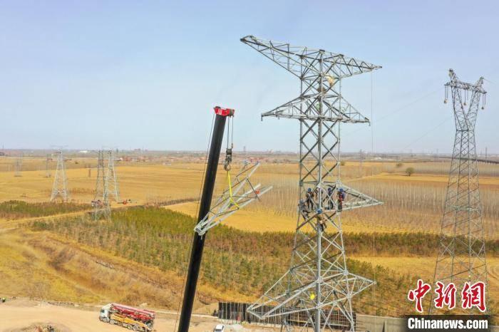 京德高速电力工程改迁进行雄安新区规划对外开放