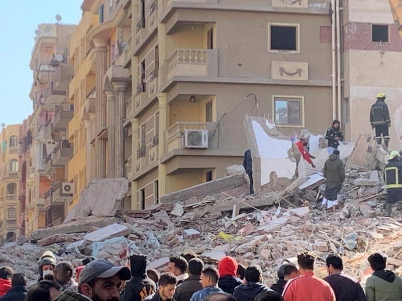 埃及一栋大楼倒塌 已致5死24伤