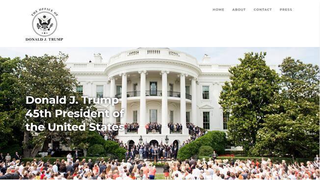 接受预定特朗普夫妇参加私人活动!特朗普个人网站正式上线