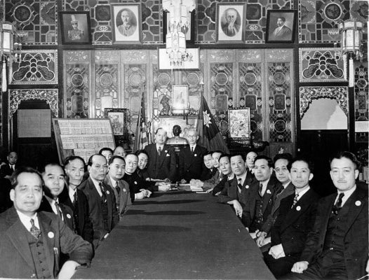 """""""六大公司""""后更名为中华公所,后来成为长期控制美国华人社团的幕后机构。"""