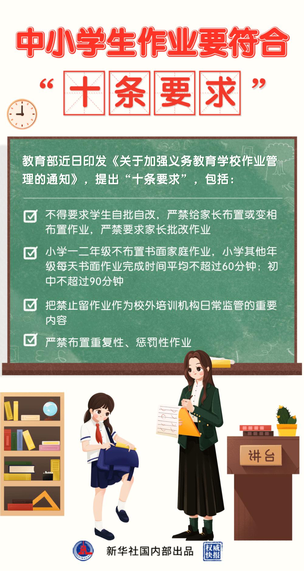 严禁要求家长批改作业!教育部发文了