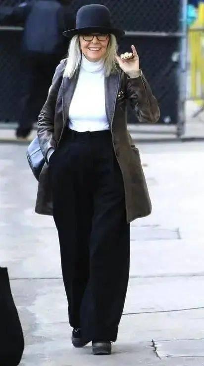 衣品||75岁还是最酷的女神 如何穿成戴安·基顿? 爸爸 第32张