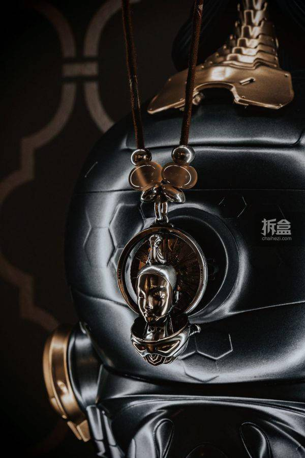 MP STUDIO 与仏同在 未来仏银饰项坠 纯银珠链 配珠挂绳