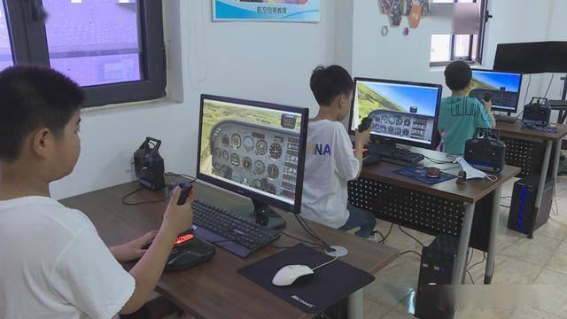 2021年焦作市解放区中小学生科技体育竞赛模拟飞行比赛在解放区开赛