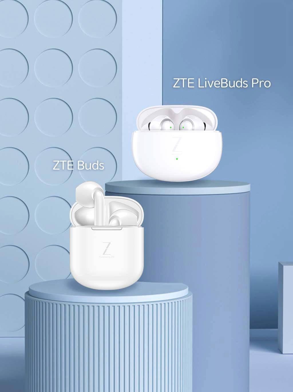 中兴 ZTE LiveBuds Pro/ZTE Buds 两款耳机将随 Axon30 手机