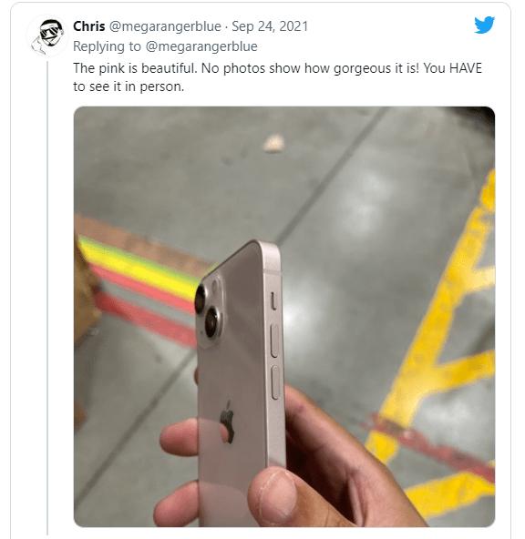iPhone 13首批预购者已拿到货:大批上手来了 蓝色真机最吸睛