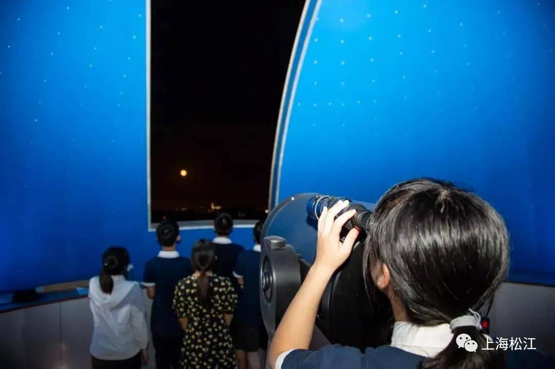 """坐看明月起,同时不同景!松江二中等四校学生开展沉浸式在线""""探月之旅"""""""