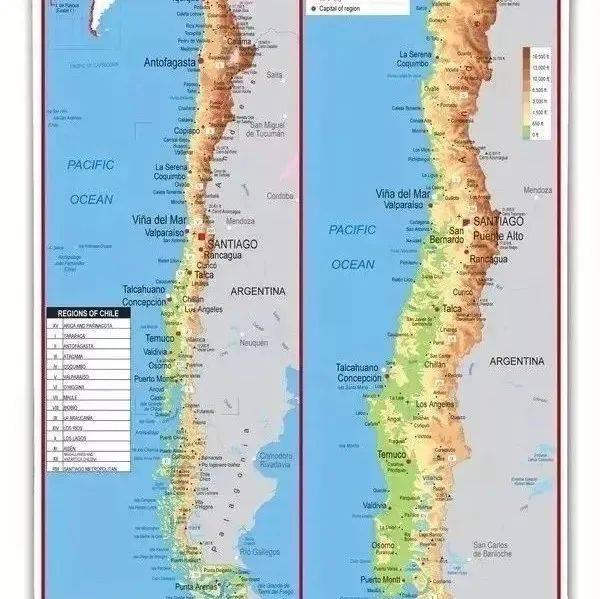 """【地理素养】""""天涯之国""""智利地理环境简介,智利你这么长,考虑过地图的感受吗?"""