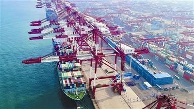 中远海运美线专线首航山东港口青岛港
